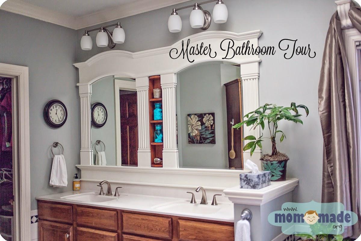 Master Bathroom Home Tour by Mom-Made