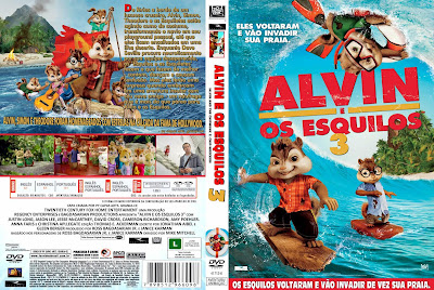 Filme Alvin e Os Esquilos 3 DVD Capa