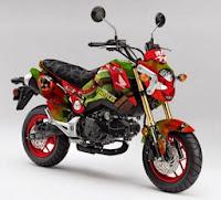 Honda Grom Teenage Mutant Ninja Turtles Raphael Concept (2014) Front Side