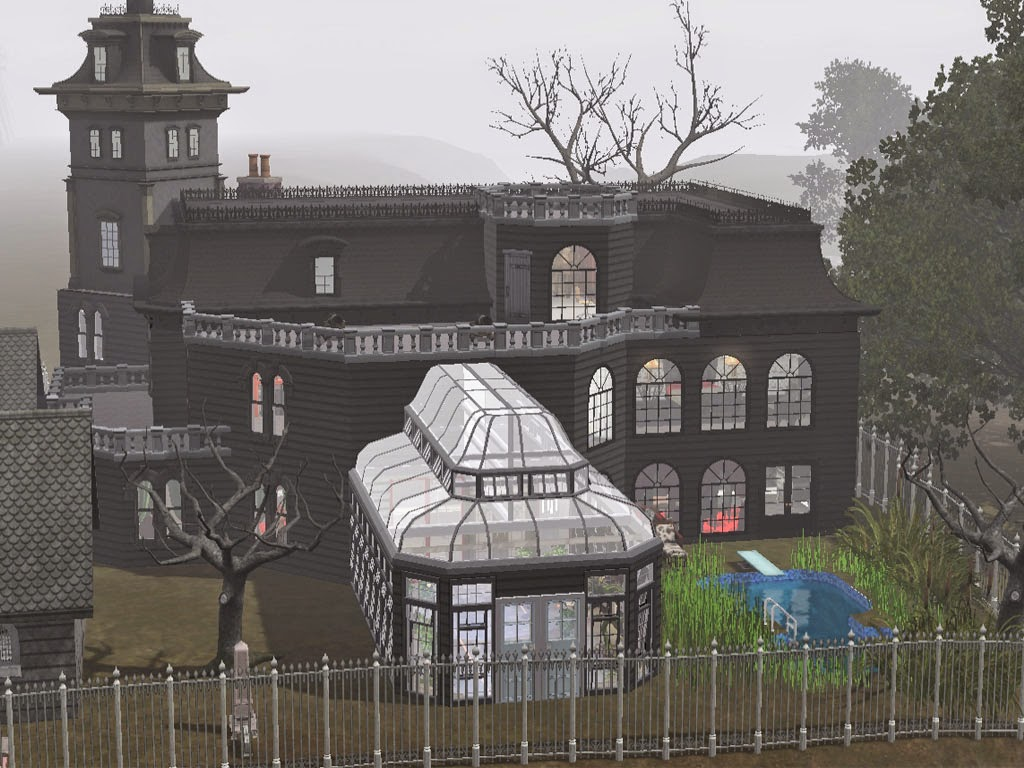 Sims and just stuff the addams family mansion by squarepeg 56 for The family house