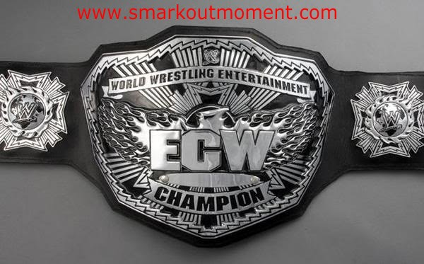 big silver ECW title belt championship World Wrestling Entertainment