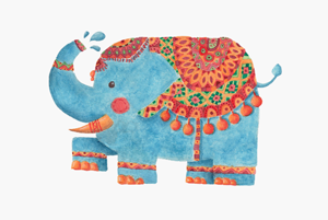 The Blue Elephant Illustration by Haidi Shabrina