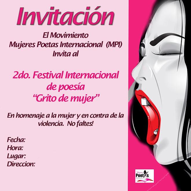 GRITO DE MUJER Mujeres Poetas Internacional