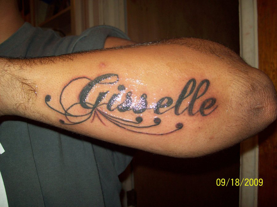 Name tattoos placement