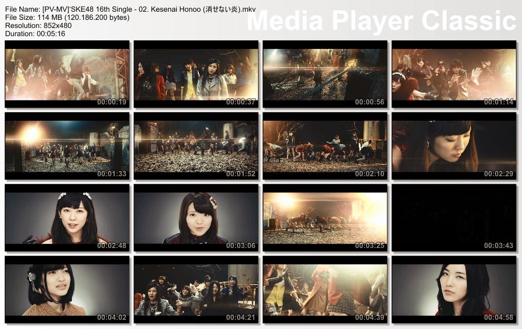 [MUSIC VIDEO] SKE48 16th Single – 02. Kesenai Honoo / 消せない炎 (2014.12.10/MKV/RAR)