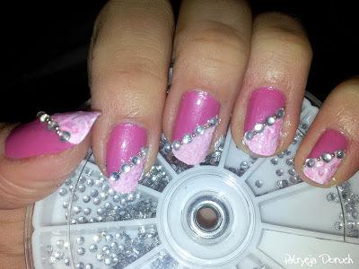 Różowe Zdobienie Z Cyrkoniami Patrycja Doruch Blog O Paznokciach
