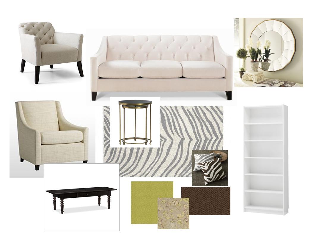 Cottage Modern Living Room Mood Board