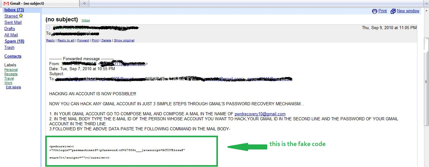 hacking gmail Hacking a gmail address is very convenient if you lose your account password it's also a good way to test your account's security there are several ways you can try to break in.