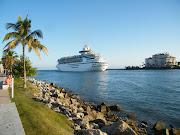 Cruise Ship DepartingMiami Beach. Cruise Ship DepartingMiami Beach (south beach )