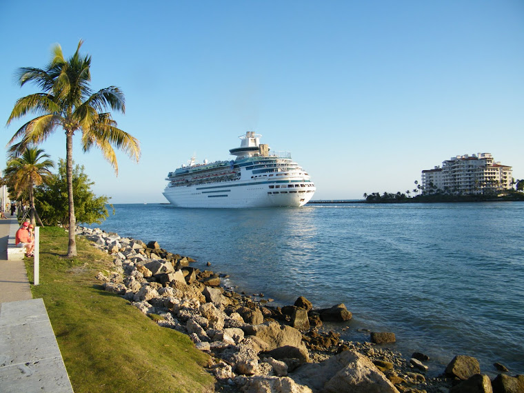 Cruise Ship Departing - Miami Beach