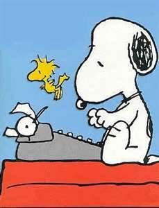 Snoopy and Woodstock artwork by Charles Schulz
