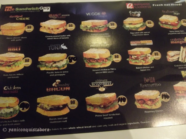 The SANDWICH GUY Menu