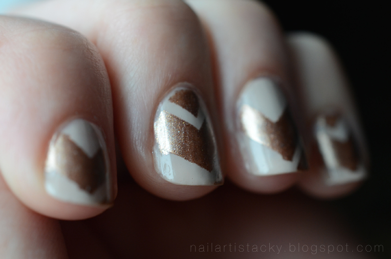 Tribal Nail Art - Butter London The Old Bill - Copper Chevrons