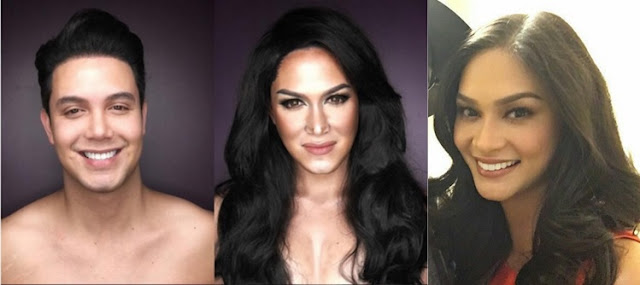 Paolo Balleteros morphed into Miss Universe Pia Wurtzbach.