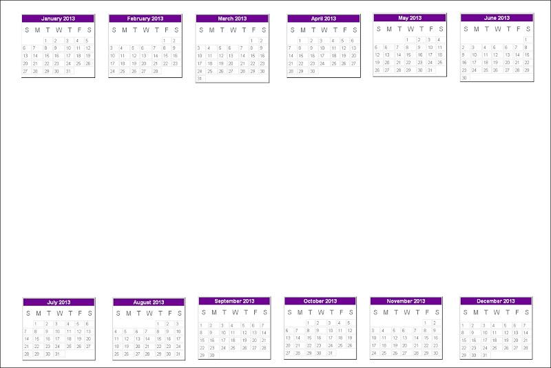 plantilla de calendario 2013