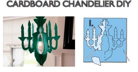 Diy cardboard chandelier easy craft ideas with a surfboard cardboard chandelier diy aloadofball Gallery