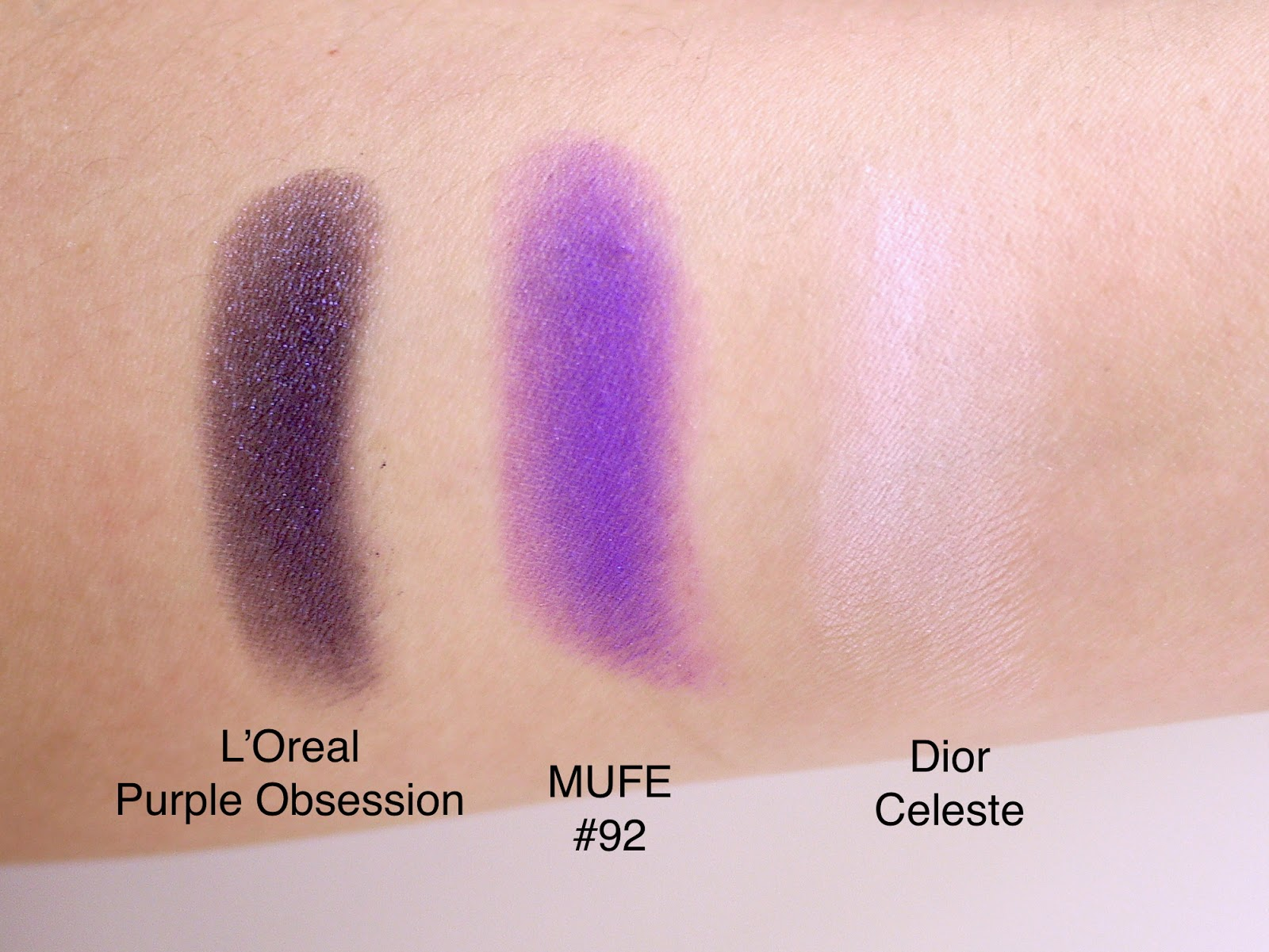 Favourite Purple Eye Shadows Swatches