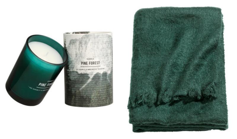 tuoksukynttilä ja vihreä huopa