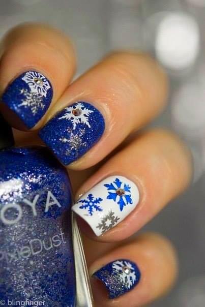 4 Blue Nail Designs
