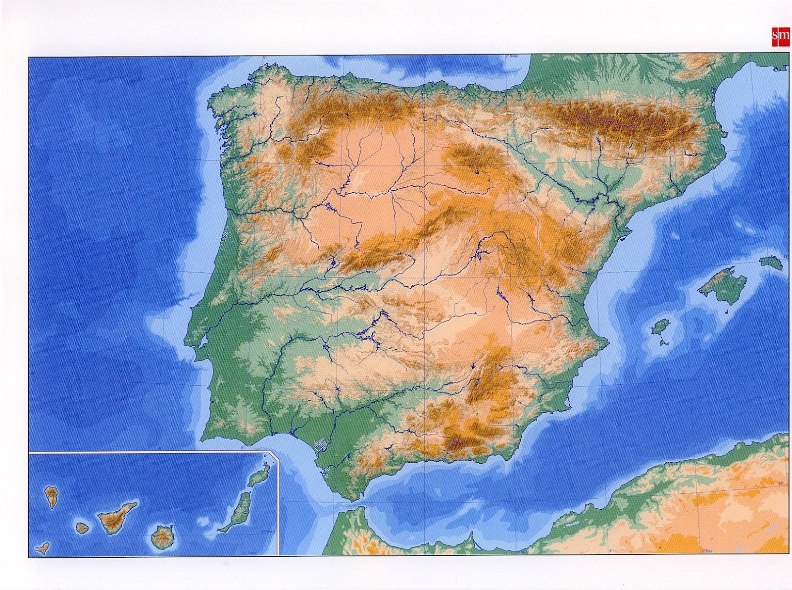 Ciencias Sociales Comunidad Infantil de Villaverde Mapa fsico