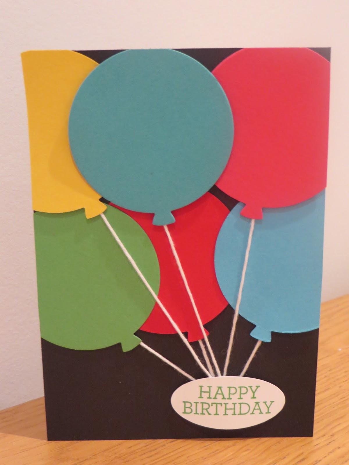 Balloon Greeting Cards Making Ideas Tecstar