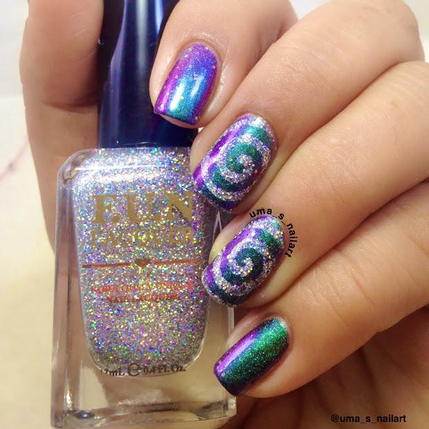 uma's nail art chrome galaxy nails