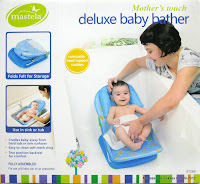 Mastela Mother's Touch #07260 Deluxe Baby Bather with Removable Head Support Cushion