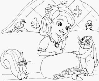 Putri Sofia Coloring Pages