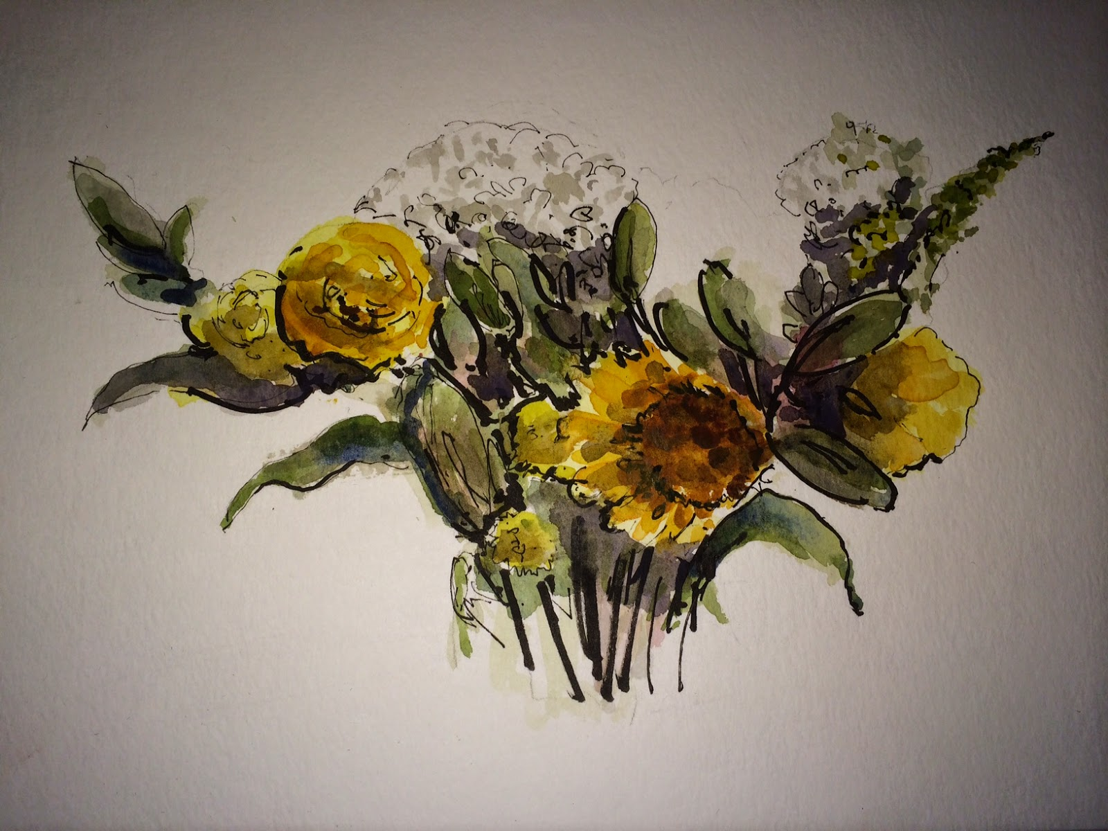 Still life watercolor of flowers | Business, Life & Design