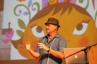 Rafael López at the Mazza Museum via www.happybirthdayauthor.com