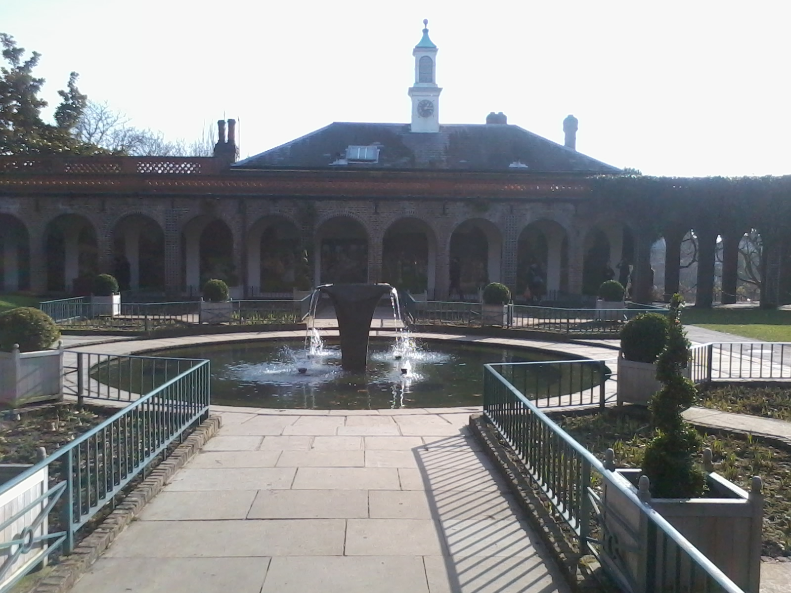 The fountain.