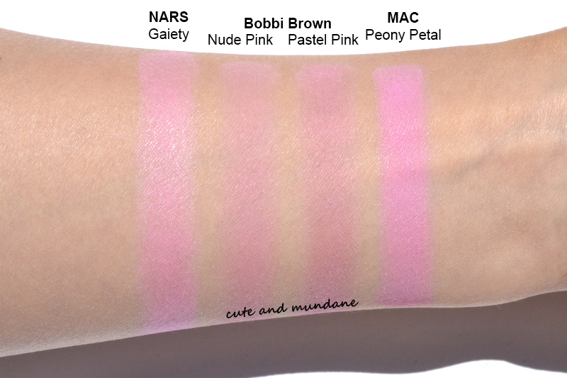 Cute and Mundane: Bobbi Brown blush in Nude Pink (29) and Pastel ...