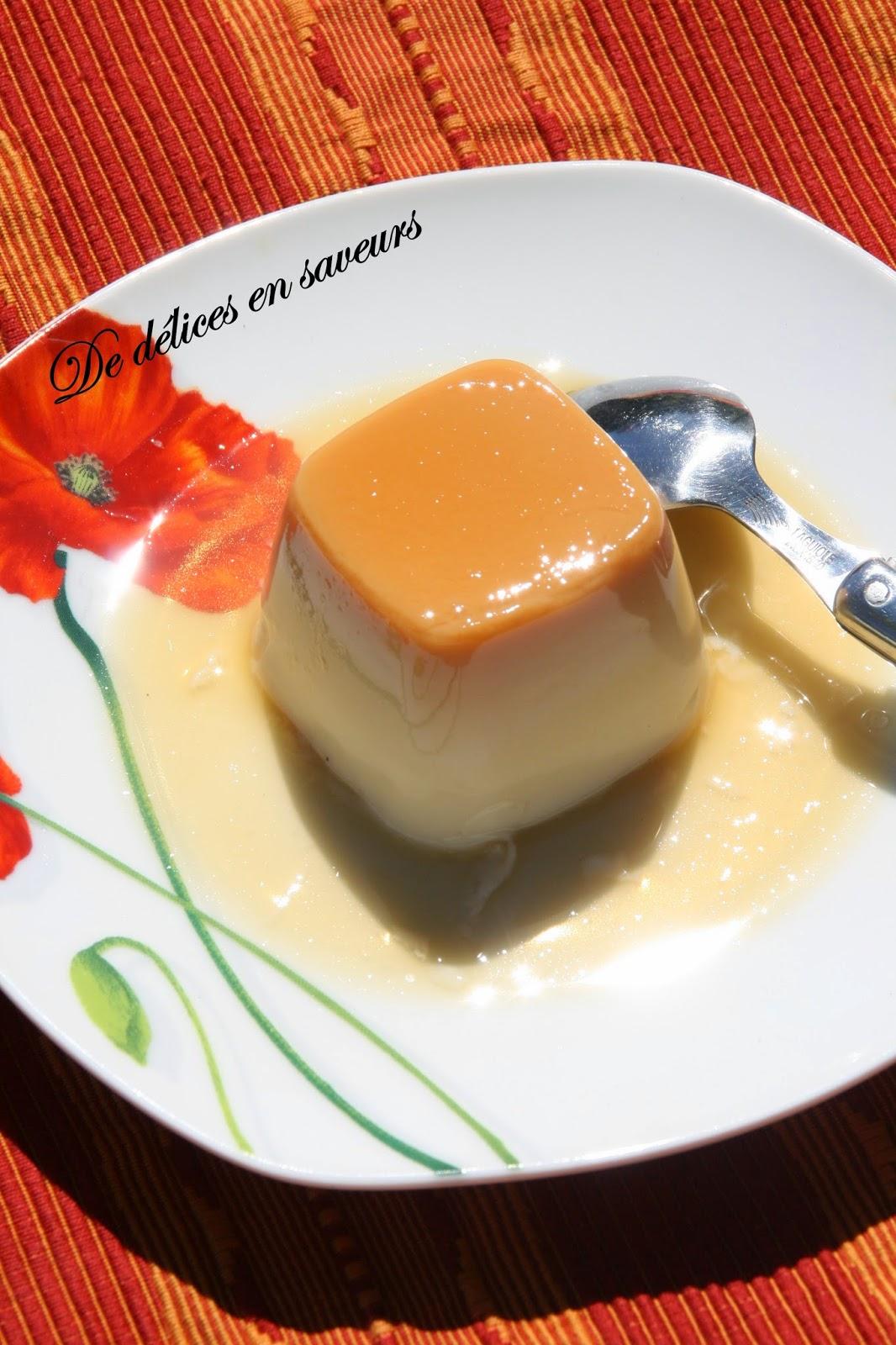 De Delices En Saveurs Flan Caramel Sans Oeufs Facon Flanby