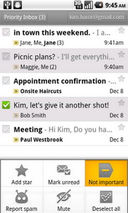 Gmail for Android 2.3.2 comes with better Priority Inbox support and improved compose