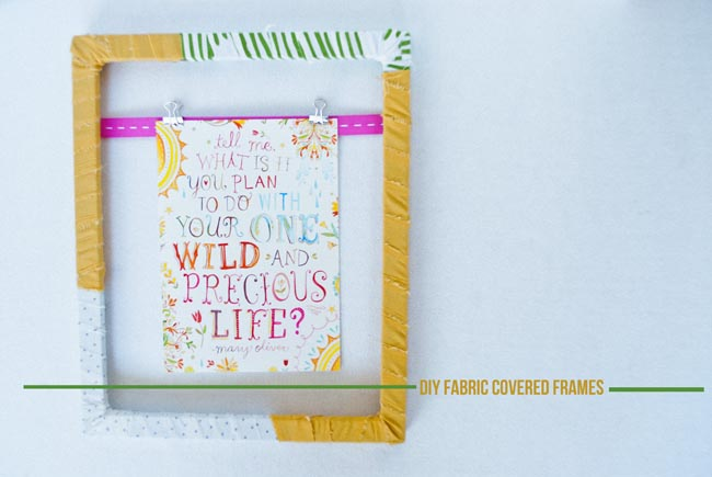 eat.live.make: DIY Fabric Covered Frames