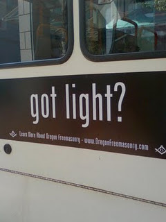 got light? masons advertising on trimet