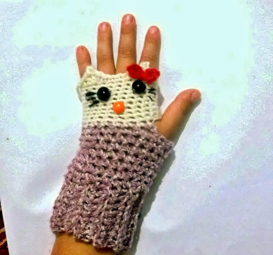 Hello Kitty Mittens Knitting Pattern : Search Results for ?Crocheted Mittens For Kids?   Calendar 2015