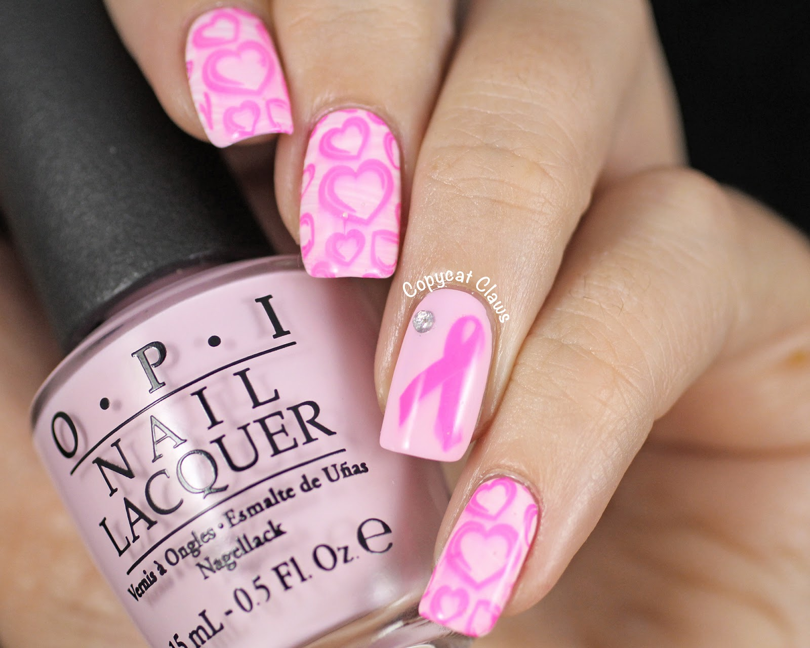 Copycat Claws: Sunday Stamping - Breast Cancer Awareness Month