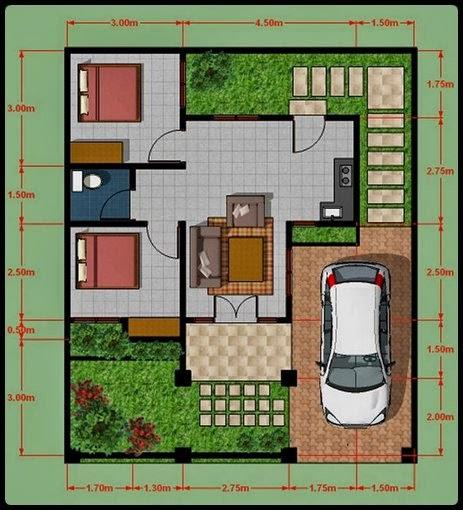 desain rumah minimalis type 45 modern plus gambar dan foto