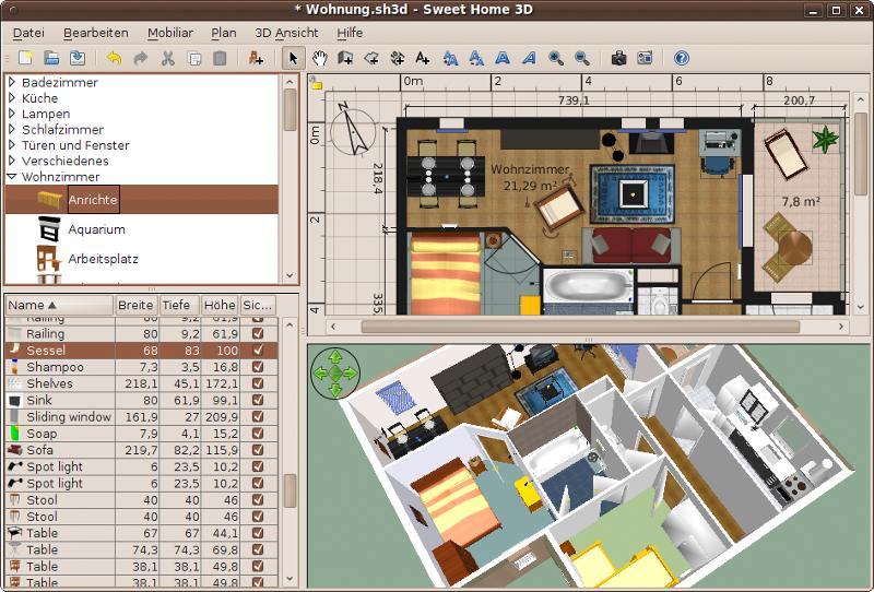 O espa o do software livre sweet home 3d aplica o de for Sweet home 3d cuisine