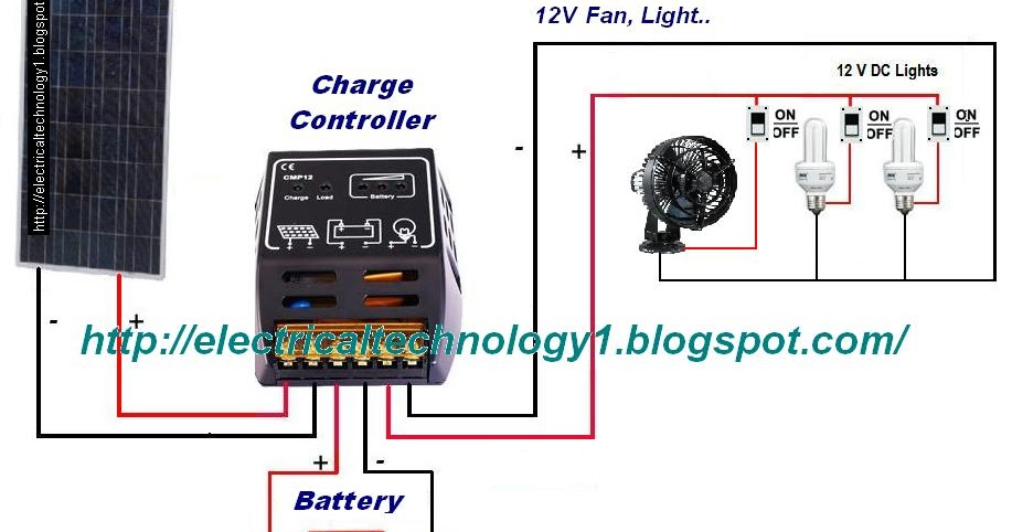 Electrical Technology  How To Wire Solar Panel To 12v