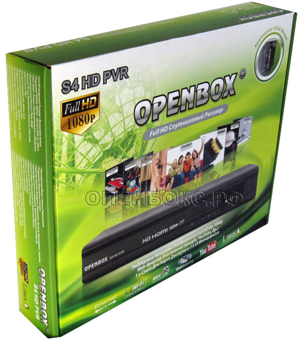 OPENBOX S4 HD PVR YUMY DREAMBOX SKYBOX YOUTUBE GOOGLE WEB INTERNET TV