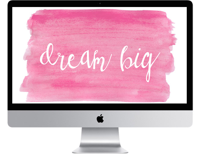 Three Free Watercolor Desktop Wallpapers | Standard Size | Instant Downloads