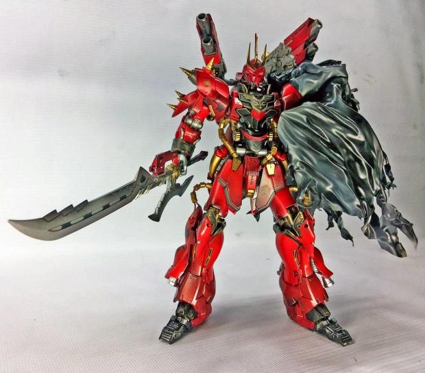 """Custom Build: HGUC 1/144 MSN-06S Sinanju """"RAVEN"""" - Gundam ..."""