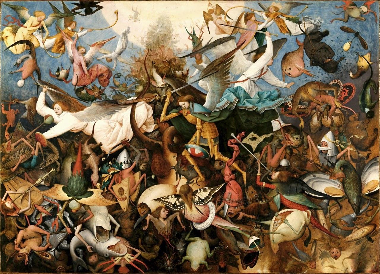 Pieter Bruegel The Elder, 1562, oil painting, Christian, Devil, God, mythology