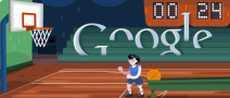 Doodle de Basketball logo interactivo de Google