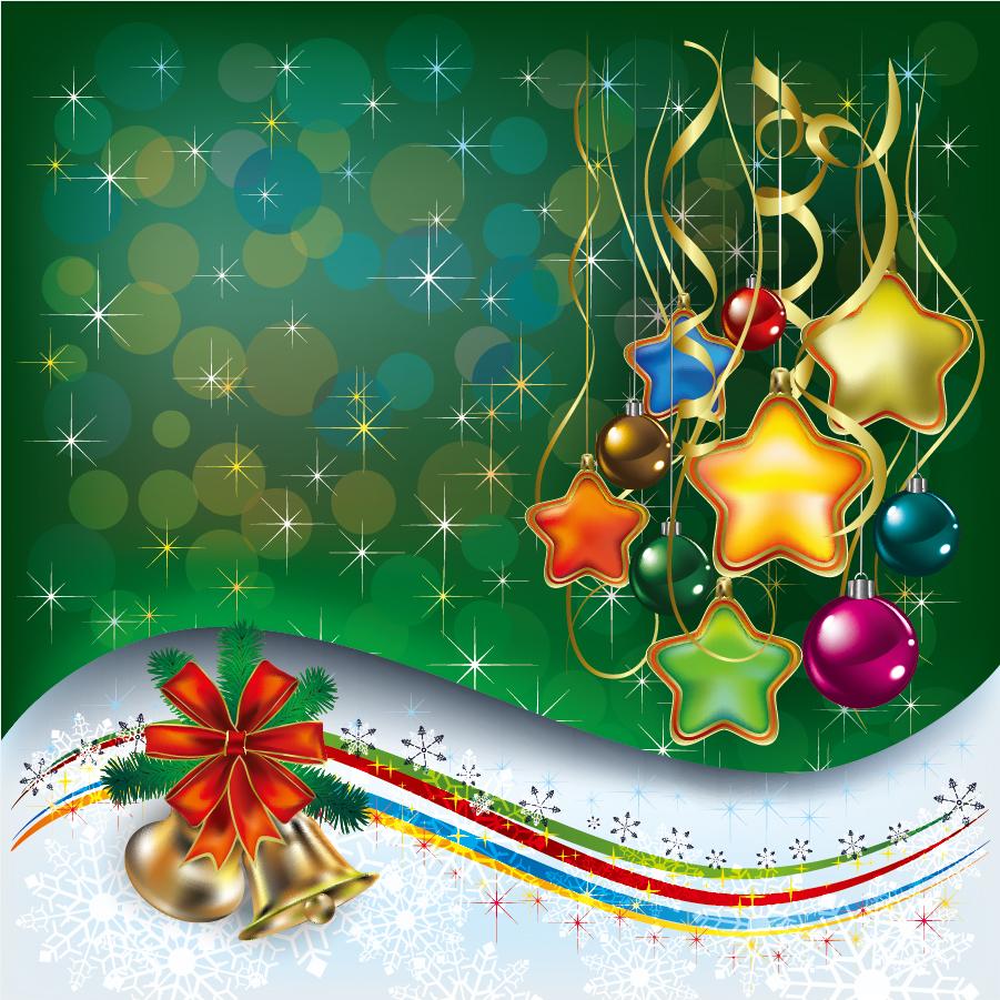 美しく輝くクリスマス飾りの背景 beautiful christmas decoration elements イラスト素材