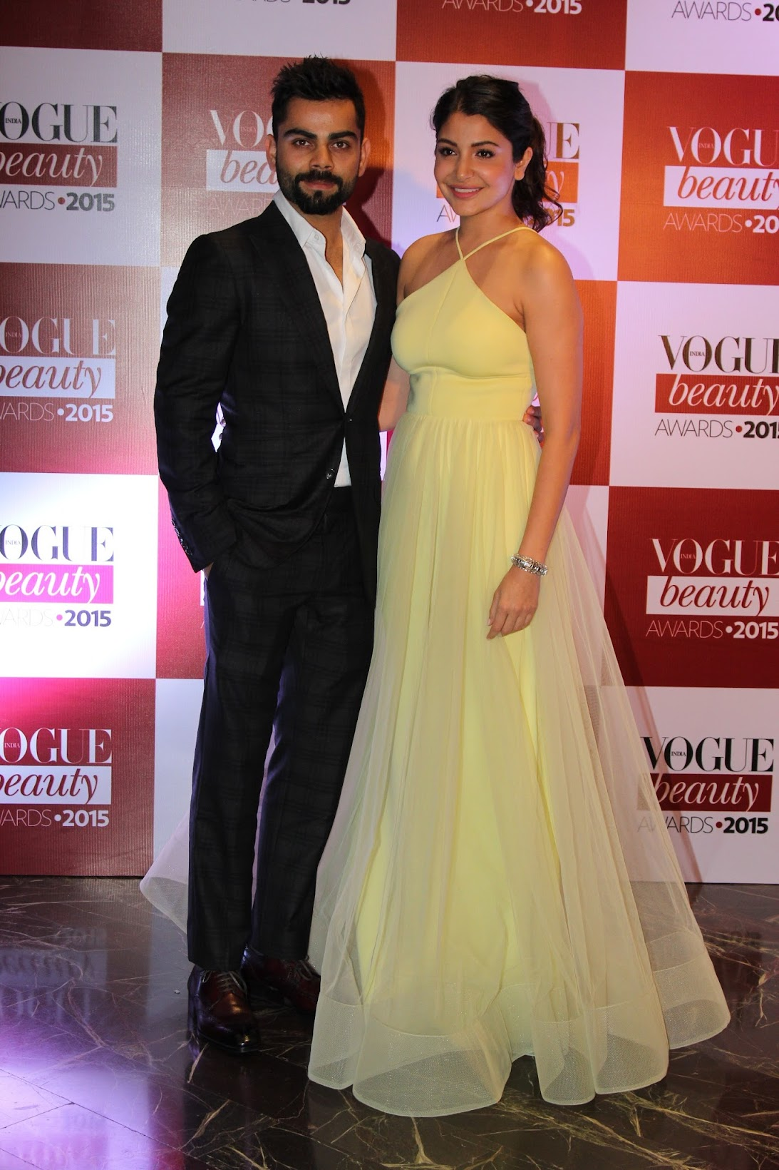 Best of Vogue India Beauty Awards 2015, Anushka sharma & Virat Kohli at the Vogue India Beauty awards
