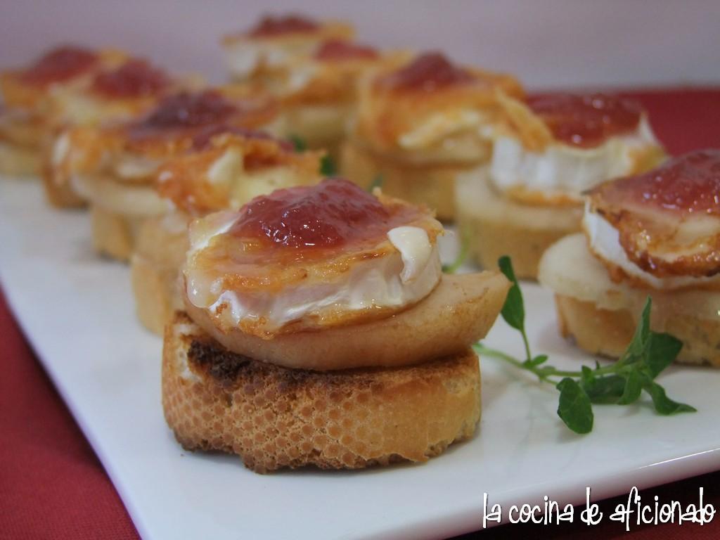 La cocina de aficionado tosta de queso de cabra a la Cocinar queso de cabra