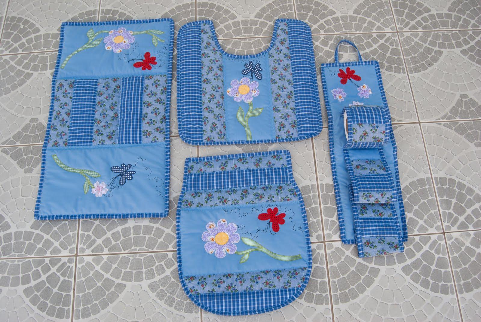 Patchwork Tapete De Banheiro : Artes da Sogra Patchwork: jogo tapete de banheiro